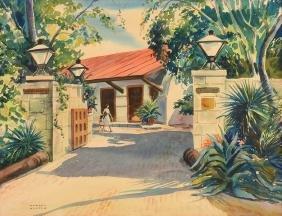 "JOHN WARREN HUNTER (American 1904-1993) A PAINTING, ""La"