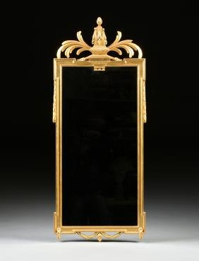 AN AMERICAN NEO-CLASSICAL GILTWOOD MIRROR, 19TH