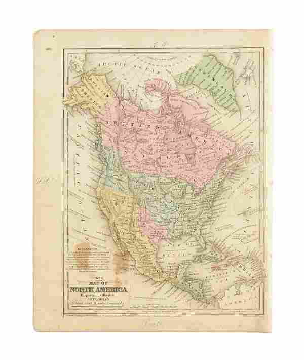 S. AUGUSTUS MITCHELL, AN ENGRAVED MAP OF NORTH AMERICA,