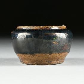 A CHINESE BLACK GLAZED STONEWARE BOWL, HENAN PROVINCE,