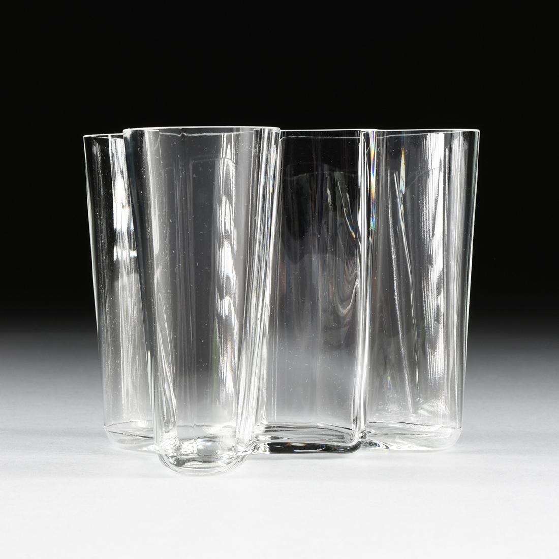 """AN ALVAR AALTO (Finnish 1898-1976) """"SAVOY"""" GLASS VASE,"""