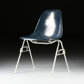 A CHARLES EAMES (American 1907-1978) FIBERGLASS AND