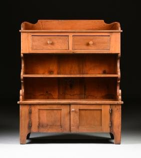 A PENNSYLVANIA CHERRY AND PINE SIDEBOARD/CABINET, CIRCA