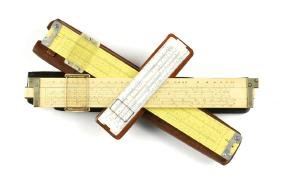 A GROUP OF THREE SLIDE RULES, MID 20TH CENTURY,
