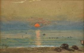 CHARLES JONES WAY (British 1835-1919) A PAINTING,
