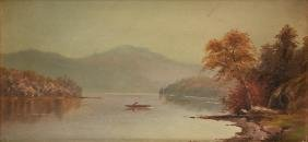 HUDSON RIVER SCHOOL (American 19th Century) A PAINTING,