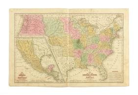 S. AUGUSTUS MITCHELLS, A MAP OF THE UNITED STATES,