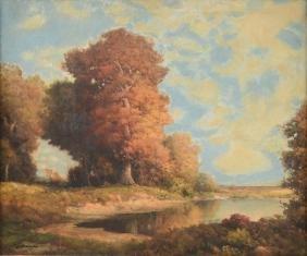 "ROBERT WOOD (British 1889-1979) A PAINTING, ""Texas"