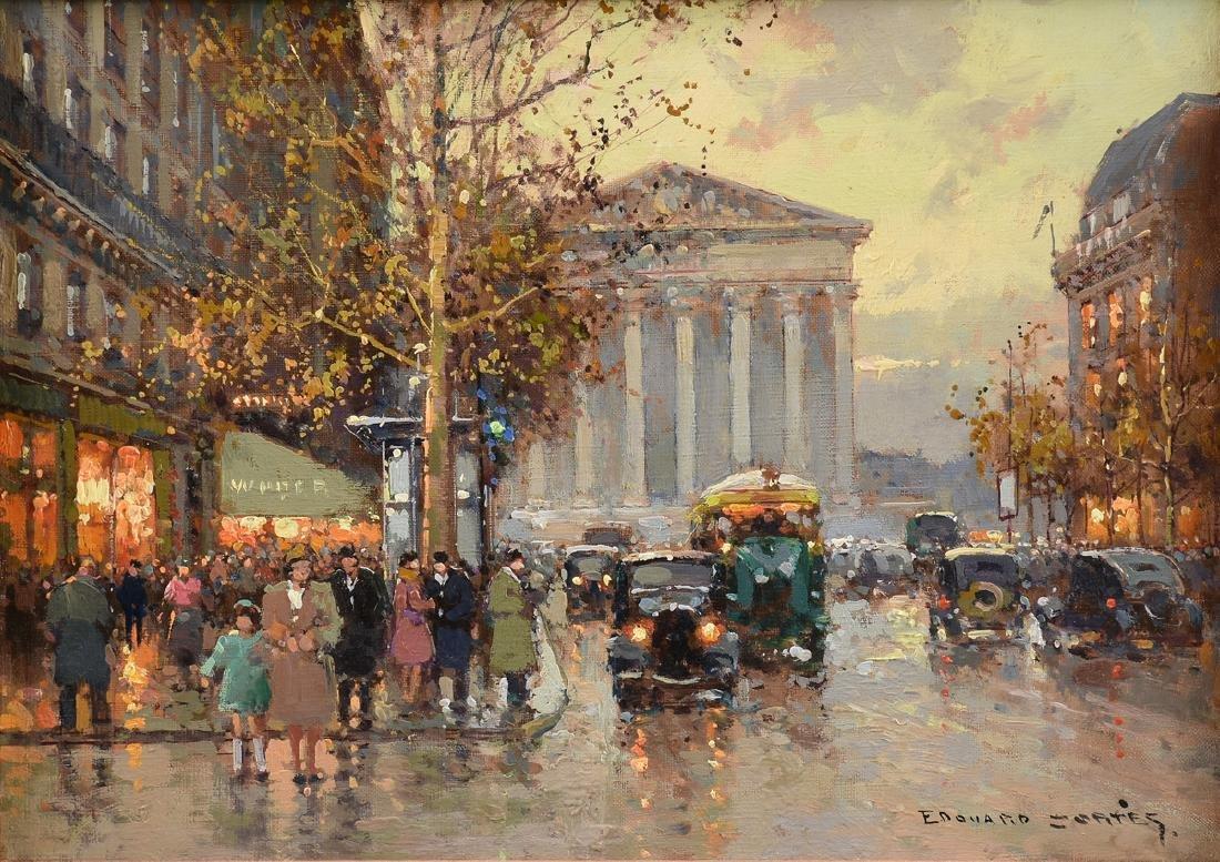 "ÉDOUARD CORTÈS (French 1882-1969) A PAINTING, ""Rue"
