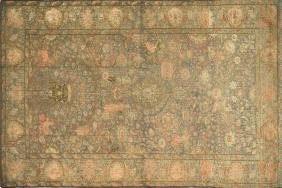 A FINE TURKISH SILK, GOLD AND METAL KAYSERI TAPESTRY