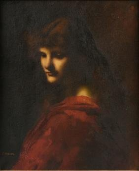 JEAN-JACQUES HENNER (French 1829-1905) A PAINTING,