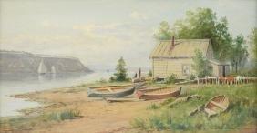 JUNIUS R. SLOAN (American 1827-1900) A PAINTING,