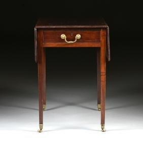 A GEORGE III MAHOGANY PEMBROKE TABLE, EARLY 19TH