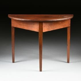 A FEDERAL STYLE CHERRY AND PINE CONSOLE TABLE, LATE 19