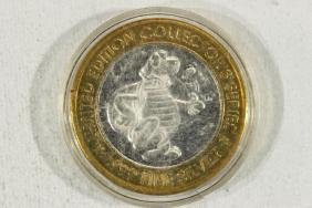 CASINO $10 SILVER TOKEN (UNC) 1996 ST. CROIX