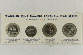 1968 SERIES FRANKLIN MINT GAMING TOKENS PROOF SET