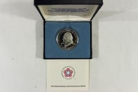 1976 US MINT SILVER PROOF BICENTENNIAL MEDAL