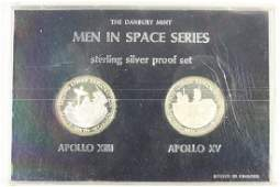 2 COINS MEN IN SPACE SERIES STERLING SILVER PROOF