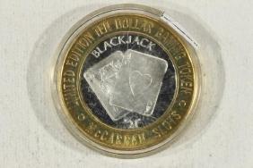 CASINO $10 SILVER TOKEN (UNC) LAS VEGAS MCCAREN