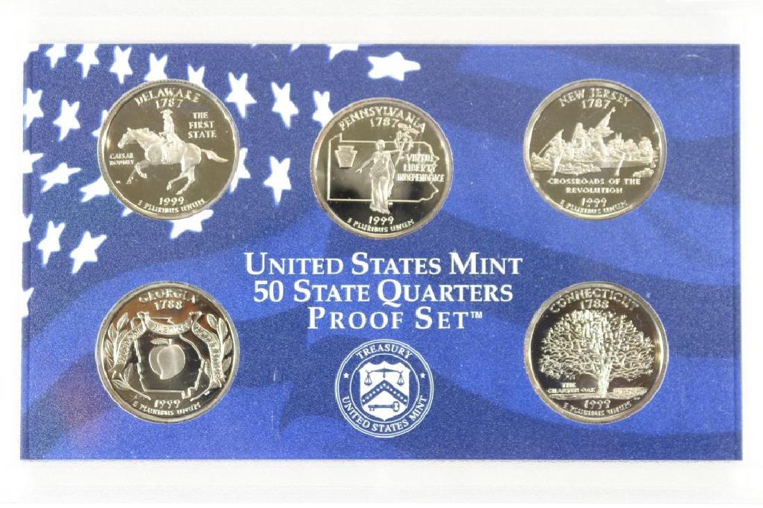 1999 US 50 STATE QUARTERS PROOF SET NO BOX