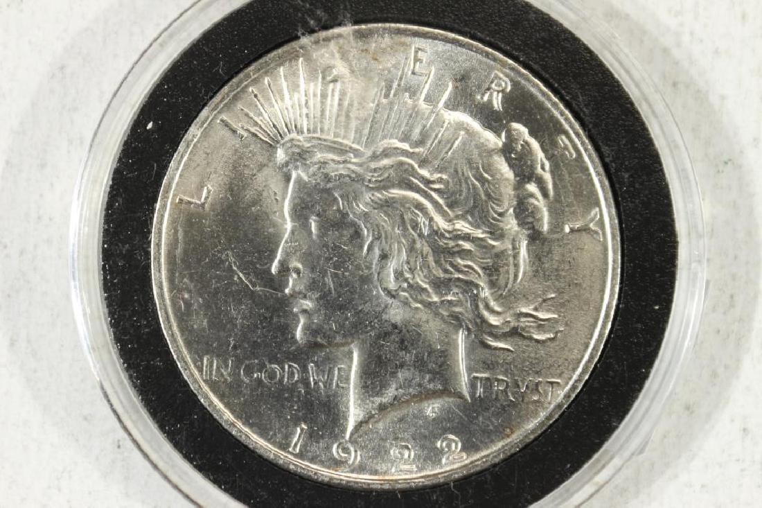 1922 PEACE SILVER DOLLAR BRILLIANT UNC