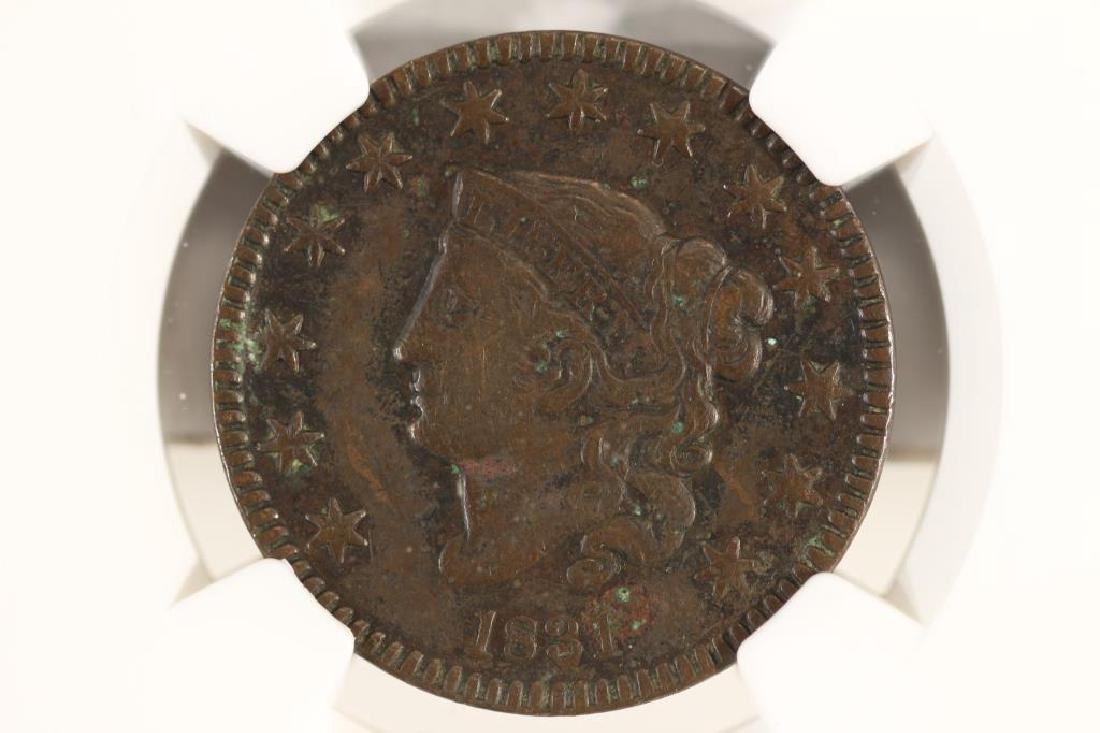 1831 US LARGE CENT NGC VERY FINE DETAILS