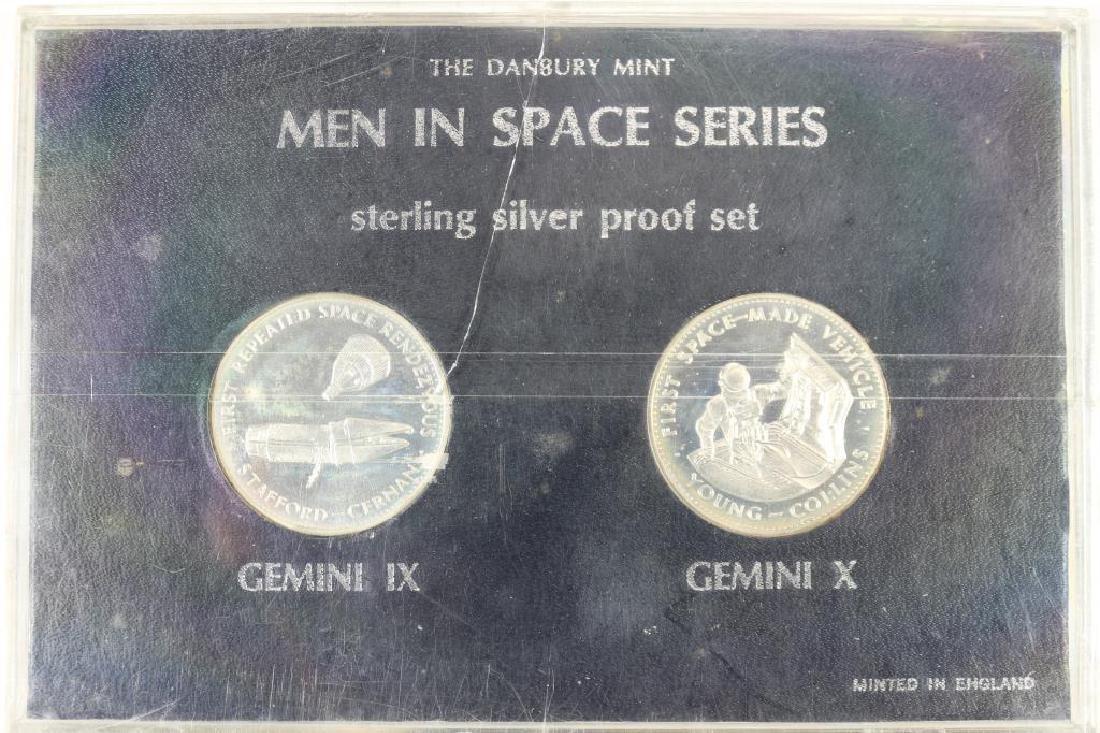 STERLING SILVER PROOF SET MEN IN SPACE SERIES