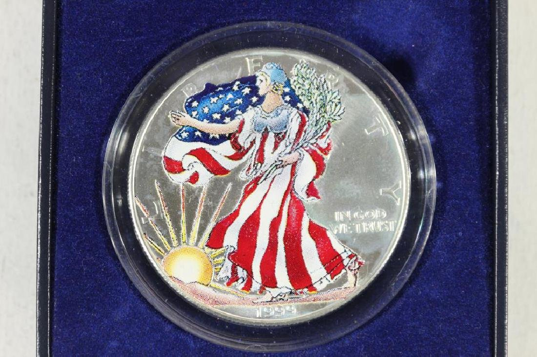 1999 COLORIZED AMERICAN SILVER EAGLE