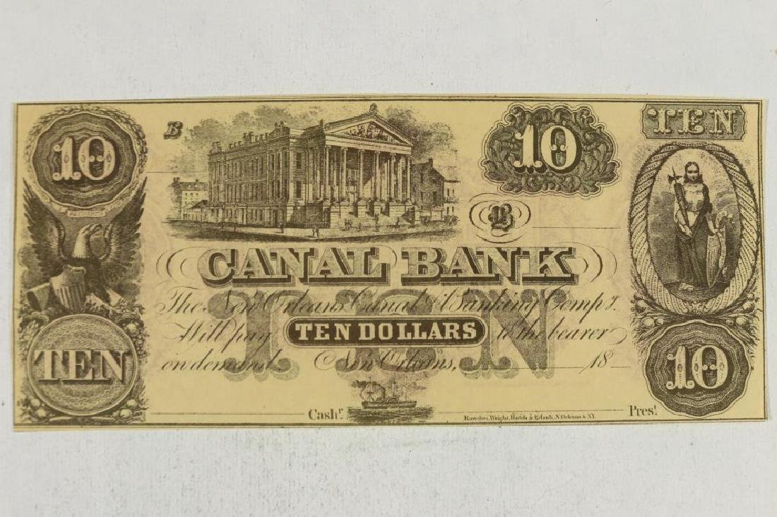 $10 CANAL BANK OBSOLETE BANK NOTE