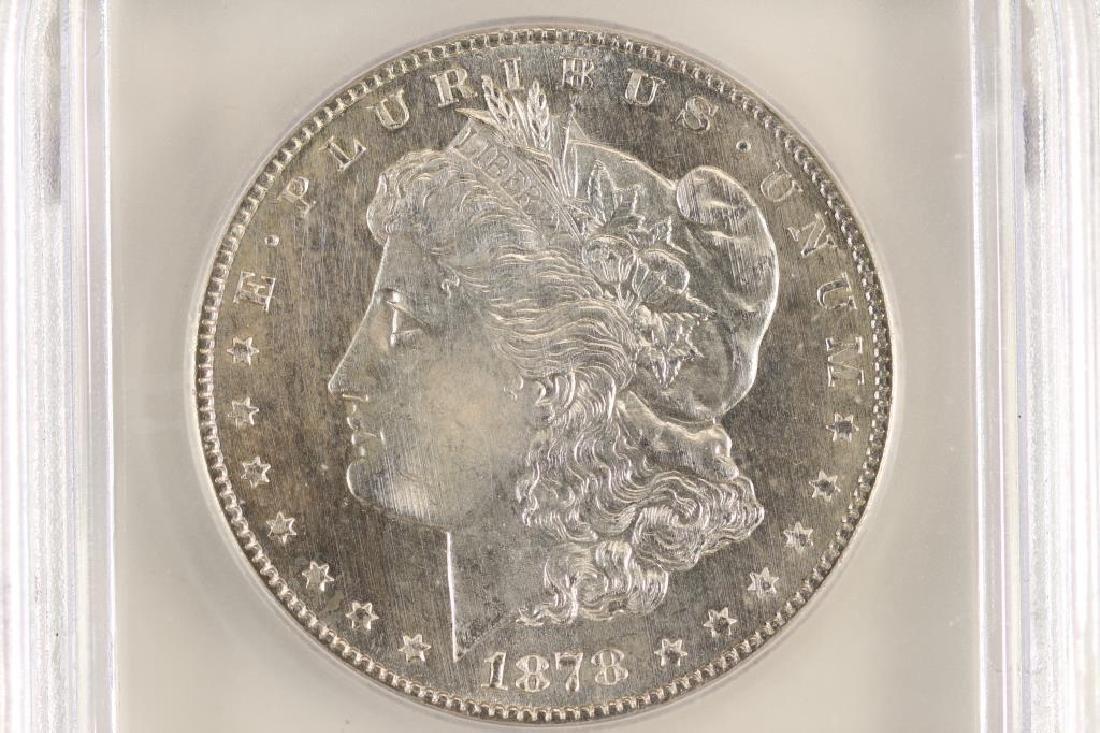 1878-S MORGAN SILVER DOLLAR ICG MS60 DETAILS