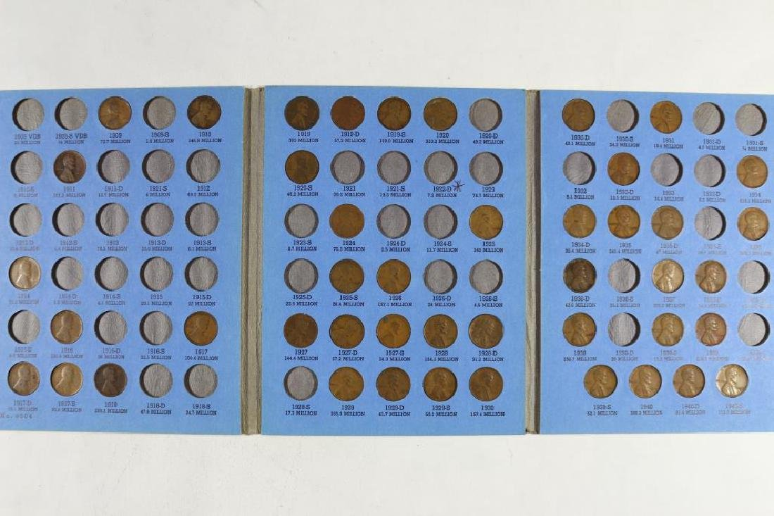 2 LINCOLN CENT ALBUMS 1909-1940 HAS 45 COINS AND