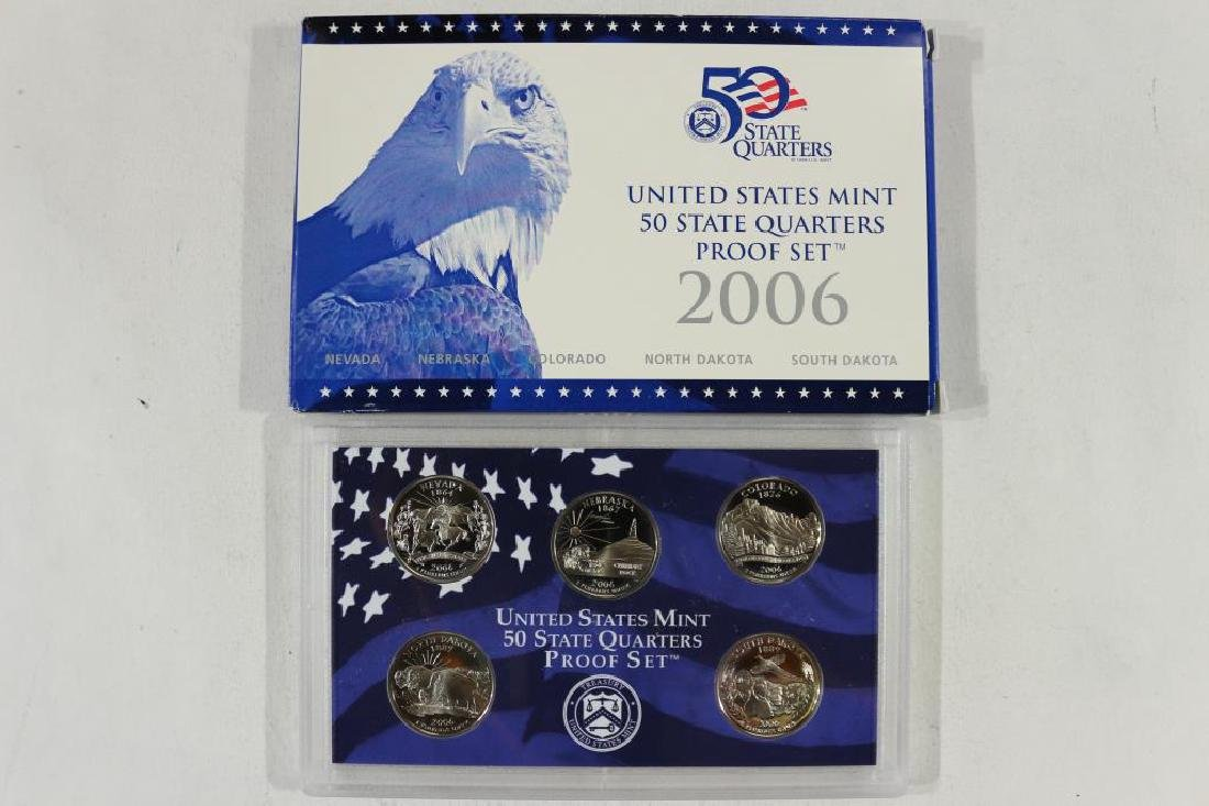 2006 US 50 STATE QUARTERS PROOF SET WITH BOX