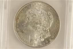 1890S MORGAN SILVER DOLLAR ICG MS63