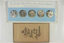 5 STERLING SILVER PROOF ROUNDS BY THE