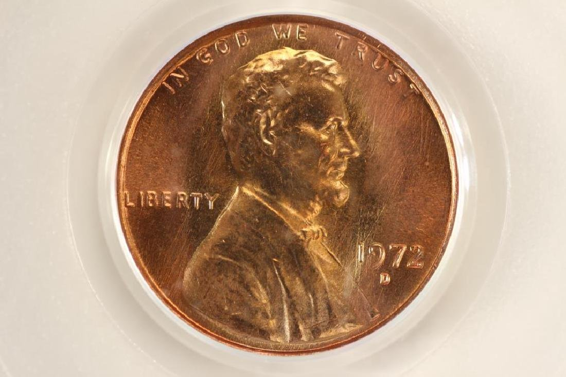 1972-D LINCOLN CENT PCGS MS66RD