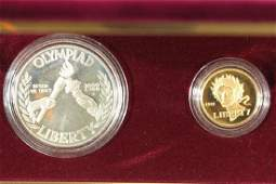 GOLD  SILVER 1988 US OLYMPIC PROOF 2 COIN SET
