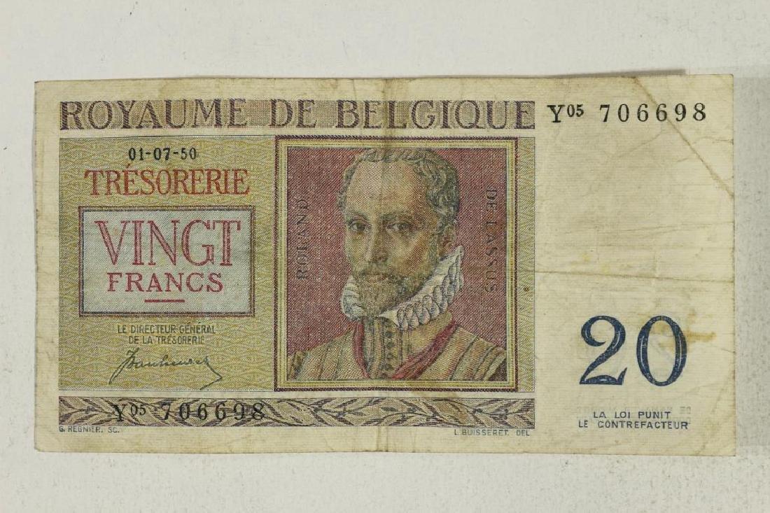1950 BELGIUM 20 FRANCS
