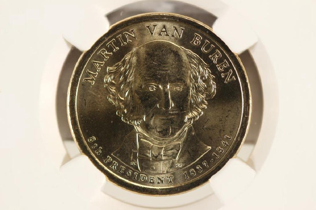 2008-D MARTIN VAN BUREN DOLLAR NGC BRILLIANT UNC