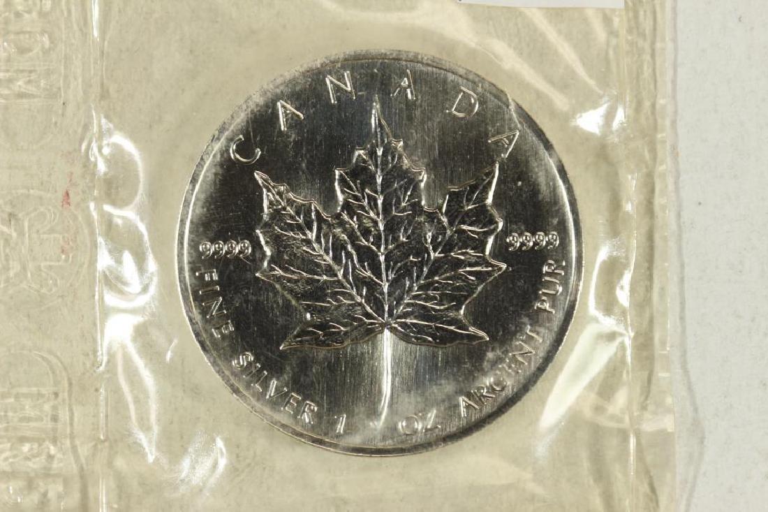 1994 CANADA SILVER $5 MAPLE LEAF UNC 1 OZ. SILVER