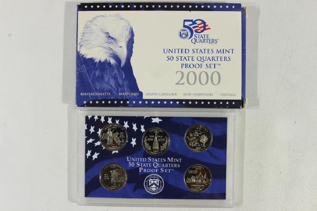 2000 US 50 STATE QUARTERS PROOF SET WITH BOX