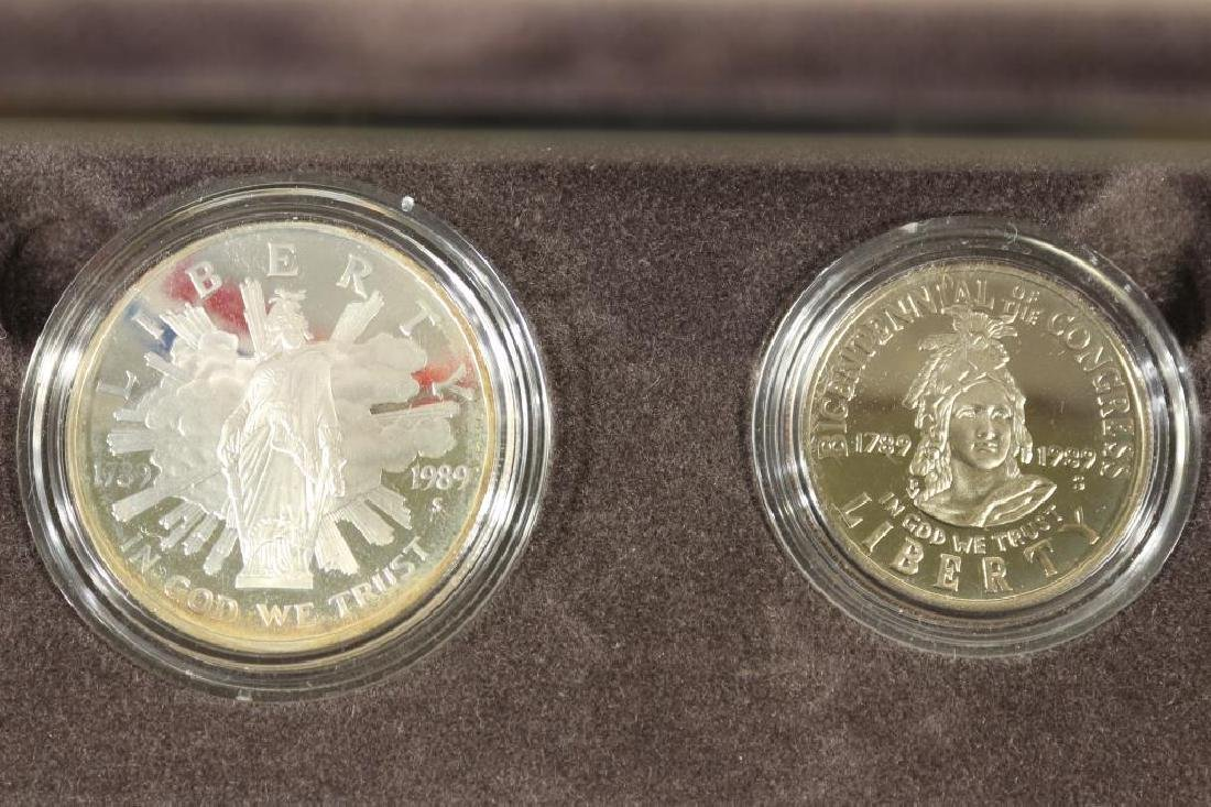 1989-S US CONGRESSIONAL 2 COIN PROOF SET