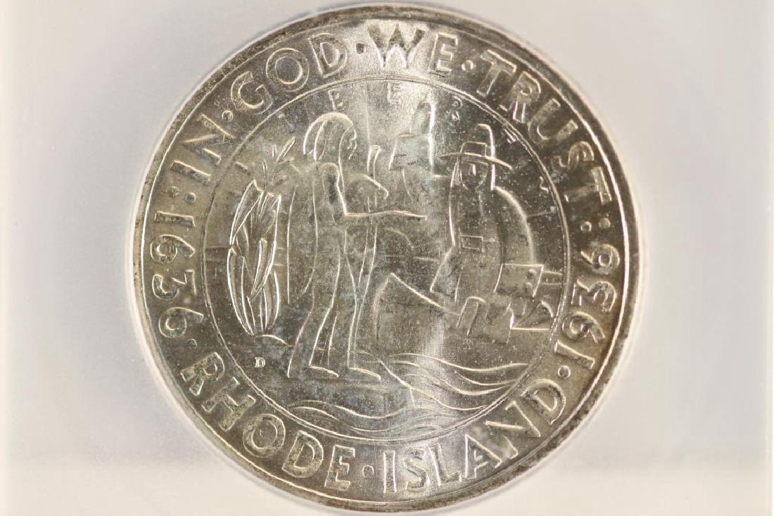 1936-D RHODE ISLAND COMMEMORATIVE HALF ICG MS65