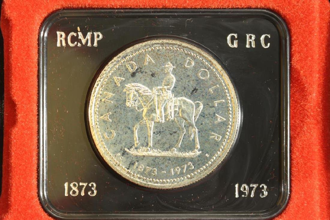 1973 CANADA RCMP SILVER DOLLAR PROOF
