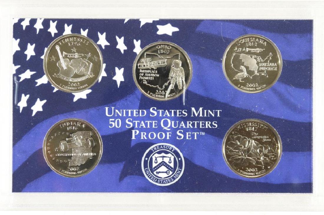 2002 US 50 STATE QUARTERS PROOF SET NO BOX
