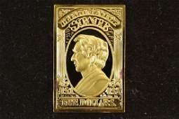 19.8 GRAM 24KT GOLD PLATED STERLING SILVER INGOT
