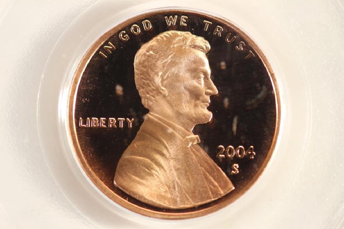 2004-S LINCOLN CENT PCGS PR69RD DCAM