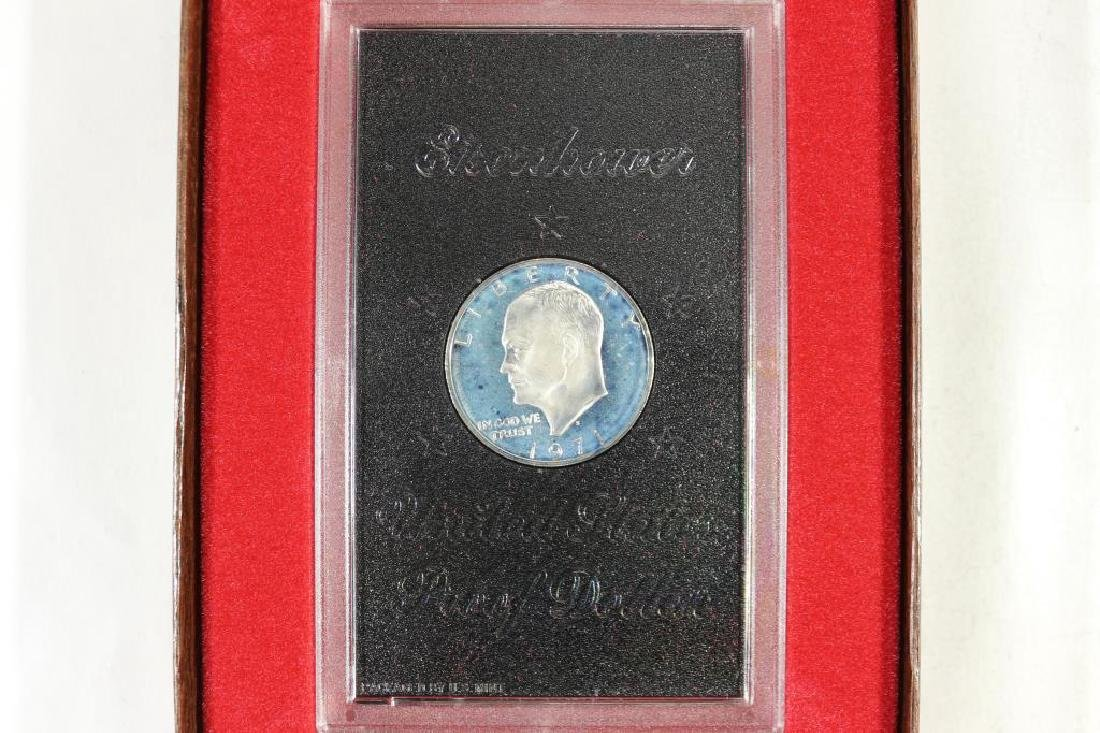 1971-S IKE SILVER DOLLAR PROOF (BROWN PACK)