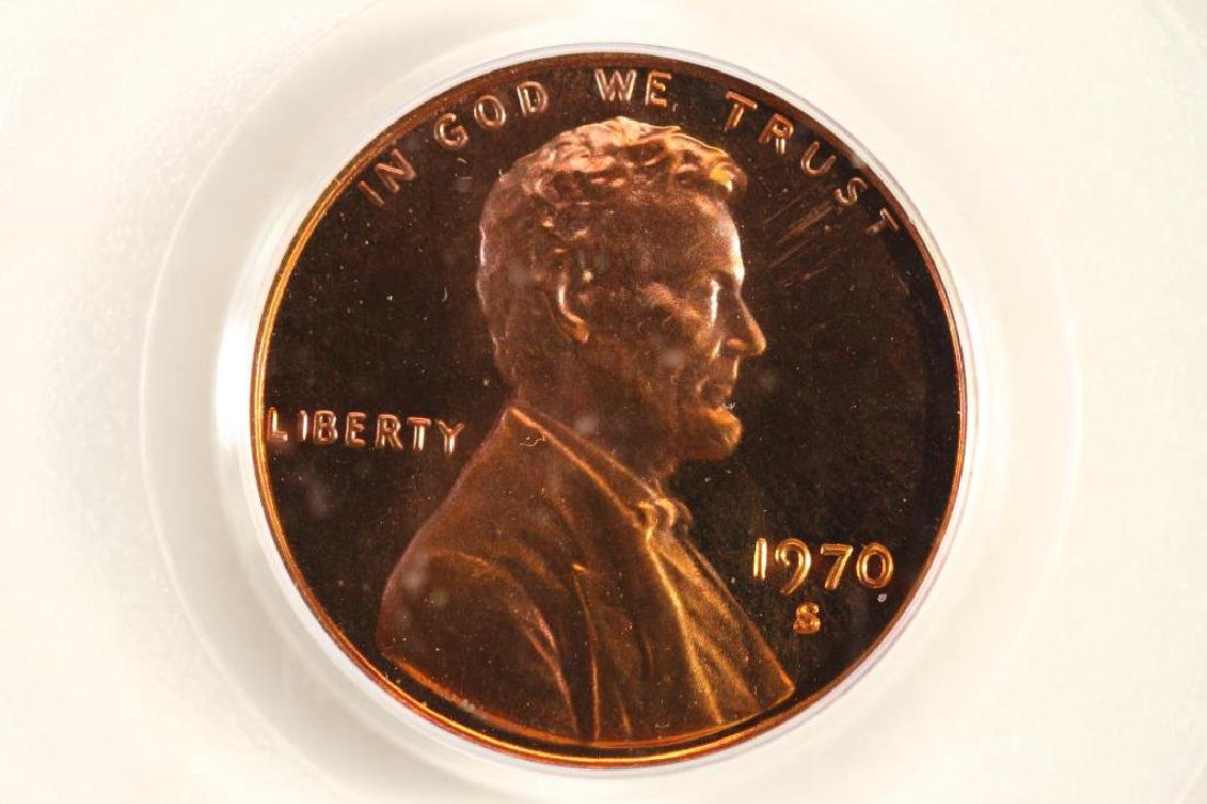 1970-S LARGE DATE LINCOLN CENT PCGS PR68RD DCAM