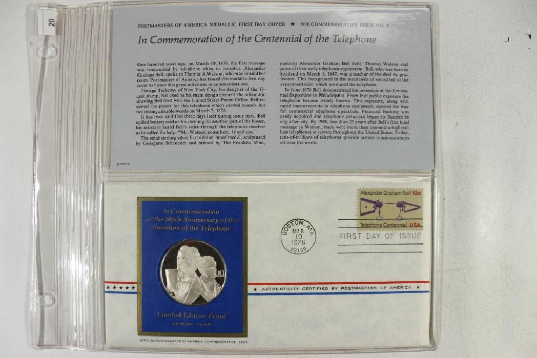 25 GRAM STERLING SILVER PROOF FDC IN COMMEMORATION