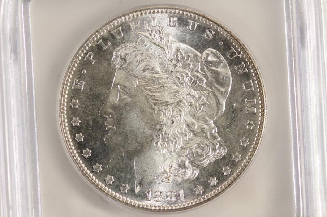 1881-S MORGAN SILVER DOLLAR ICG MS64